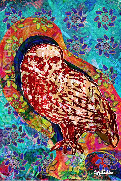 "Xavier Cortada, \""(Florida is…) Burrowing Owls, archival ink on aluminum, 60\″ x 40\"", 2016"