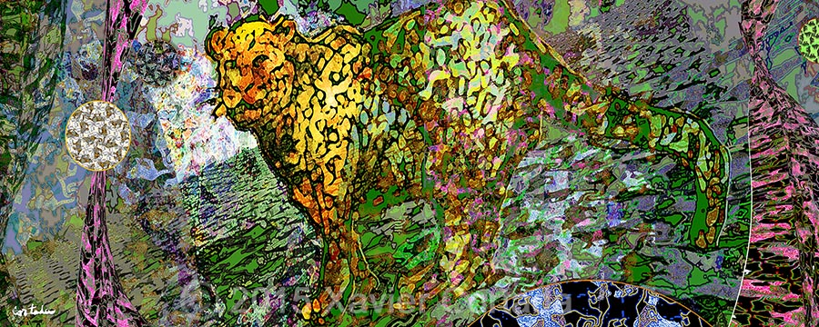 "Xavier Cortada, \""(Florida is…) Florida Panthers,\"" archival ink on aluminum, 8′ x 20′, 2015."